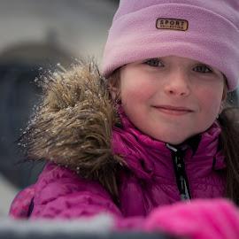Just January by Jiri Cetkovsky - Babies & Children Child Portraits ( winter, girl, january, pink, portrait )
