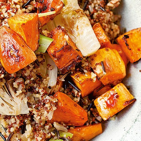 Pilaf Of Mixed Grains, Sweet Potato And Fennel