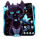 Dark Neon Kitty Theme APK