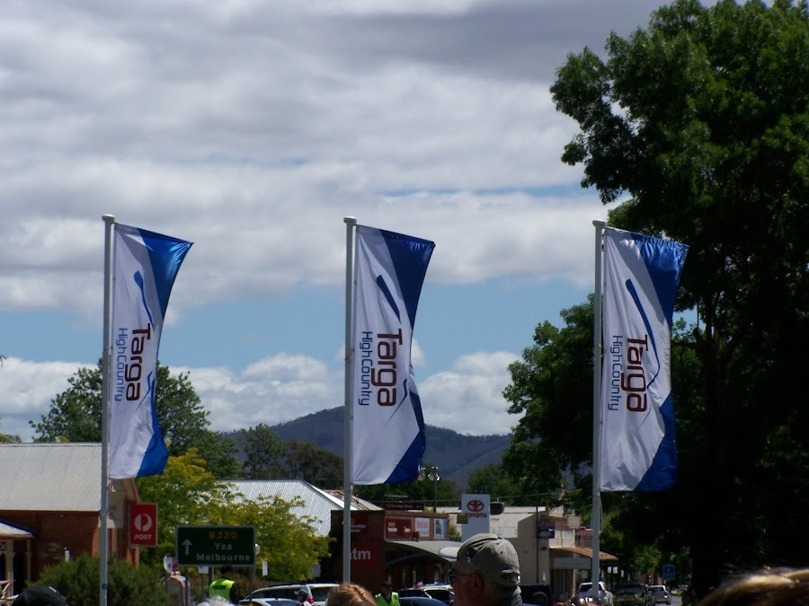 Targa High Country Rally by Sarah Harding - Novices Only Sports ( flags, racing, cars, outdoors, novices only, sport,  )