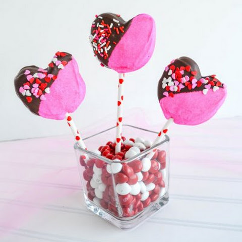 Valentine Heart Marshmallows on a Stick
