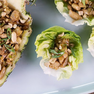 Pine Nut Chicken Lettuce Cups