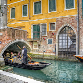 Venice by Cristian Peša - City,  Street & Park  Street Scenes ( gondola, venice canal, venice, historic district, bridge, boat, canal )