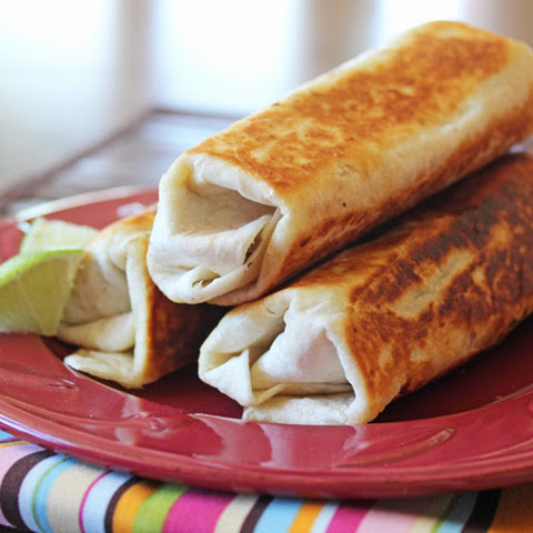 Crispy Beef and Cheese Burritos