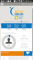Screenshot of Relay for Life Canada