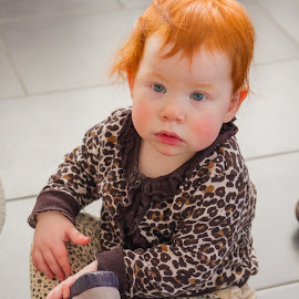 Red-Head by Palmi Vilhjalmsson - Babies & Children Child Portraits ( playing, red, redhead, shoe )