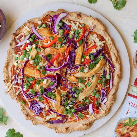 Thai Red Curry Chicken Pizza