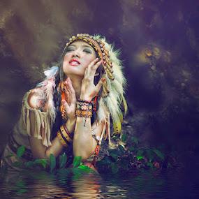 Indian Flood by Ruslan Agule - People Portraits of Women
