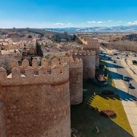 muralla de Avila by Roberto Gonzalo Romero - City,  Street & Park  Vistas ( muralla, avila )