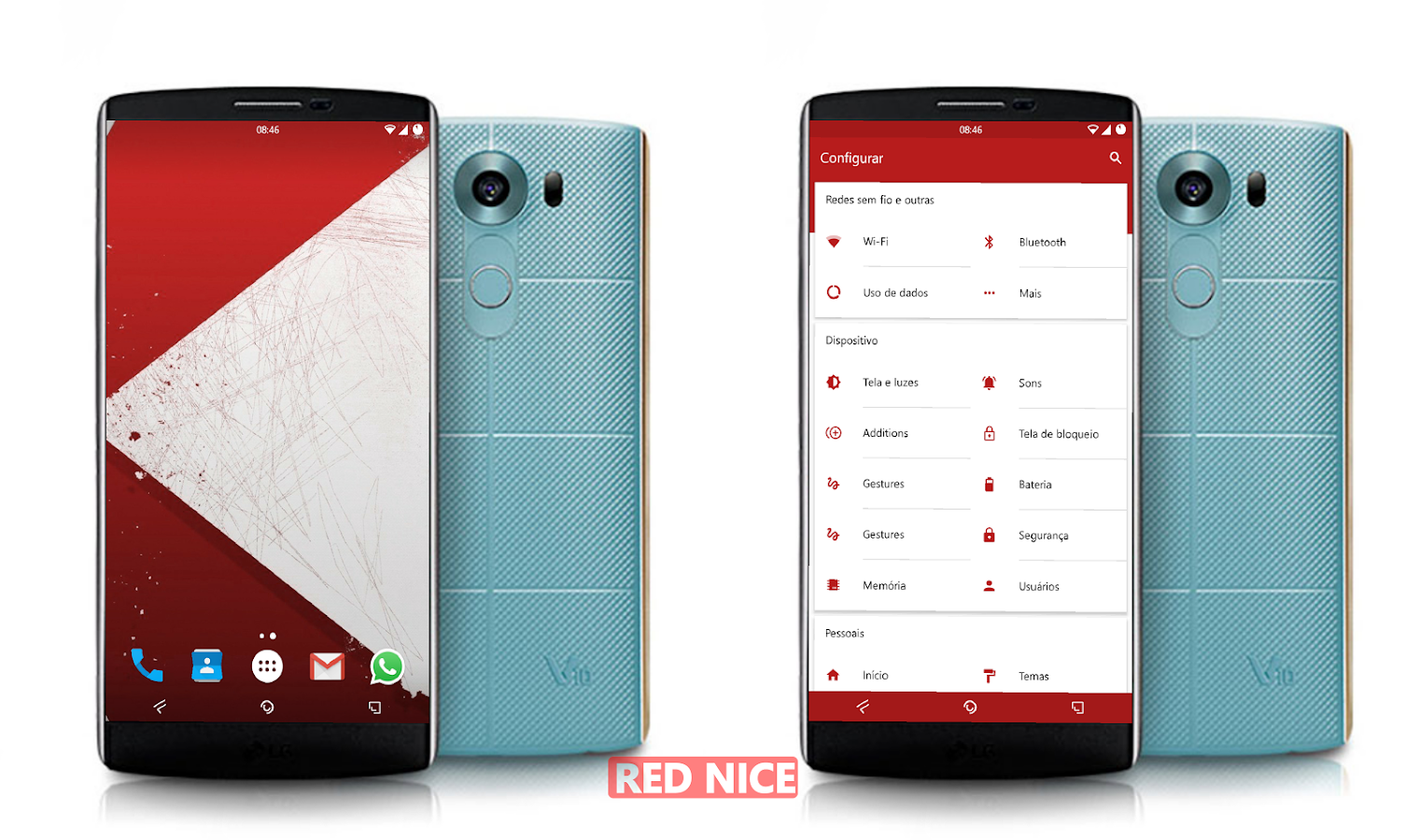 Red Nice CM Theme Screenshot 4
