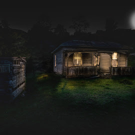 The Old Shack by Deon Hamilton - Buildings & Architecture Homes ( farm, old, dark, house )