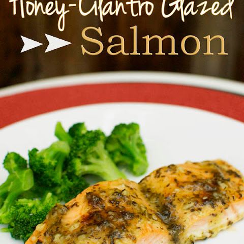 Honey-Cilantro Glazed Salmon
