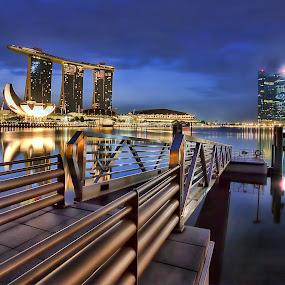 Marina Bay Jetty by Nicholas Leong - City,  Street & Park  City Parks