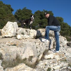 Danny&Ares by Danijel Andreas Ivanek - People Couples ( love, happy, pitbull, happiness, happy dog,  )