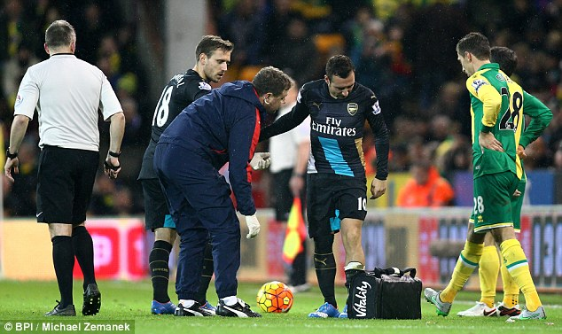 Injury setback for Cazorla