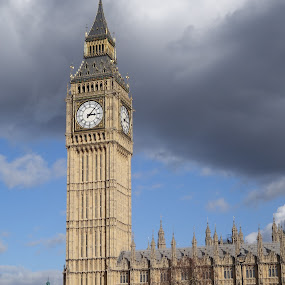 by Ben Rohleder - Buildings & Architecture Public & Historical ( london, clock, elizabeth tower, westminster palace, big ben )
