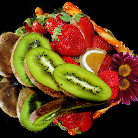 fruits,candy and flower by LADOCKi Elvira - Food & Drink Fruits & Vegetables ( candy, fruits )