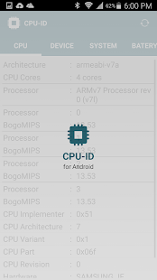 CPU-ID - screenshot