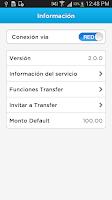 Screenshot of Transfer