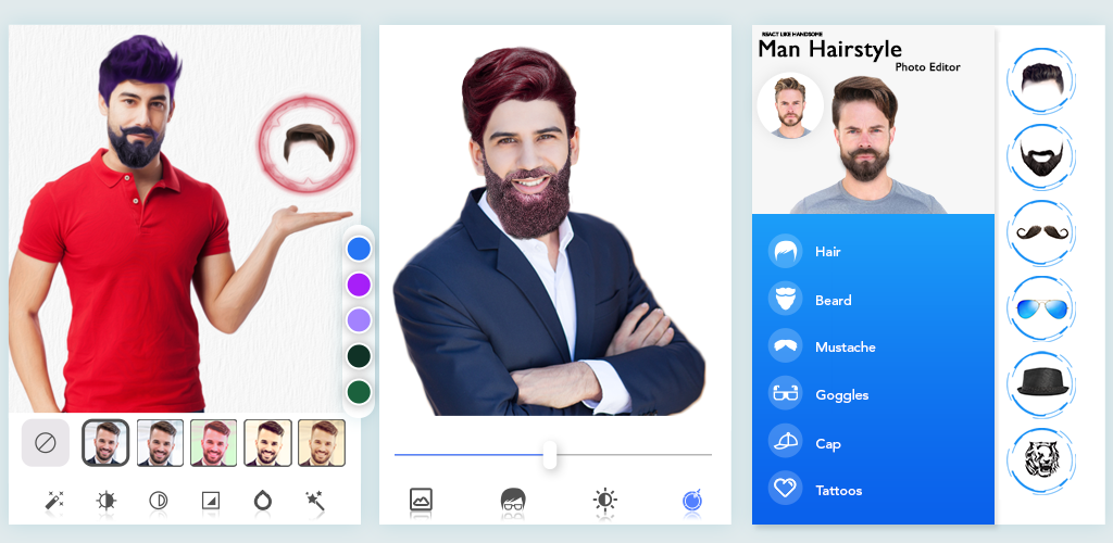 Man HairStyle Photo Editor 4.3 Apk Download - hair.newstyle.editor ...