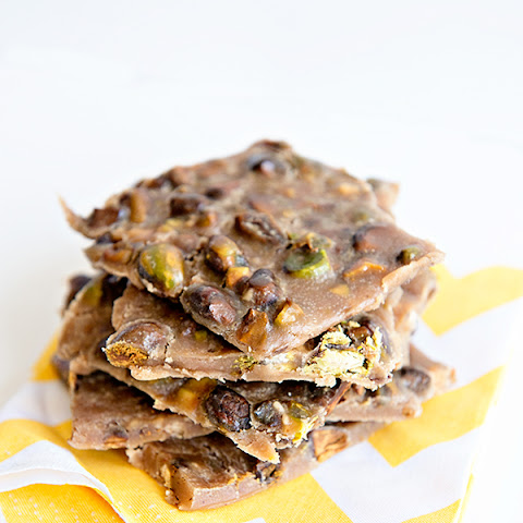 Toasted Pistachio Toffee Brittle