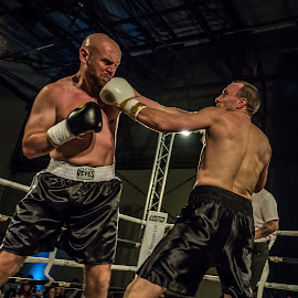 Take one on the chin by Mark Shayler - Sports & Fitness Boxing ( punch, fight, boxer, fighting, boxing, ringside, fighter )