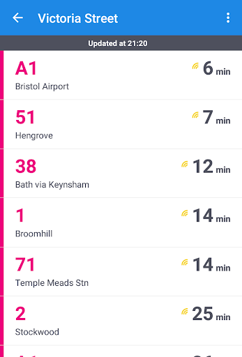Glasgow Bus & Train Times - screenshot