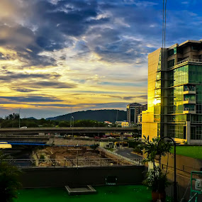 Evening Shine by Gracie Ho - Buildings & Architecture Office Buildings & Hotels ( sunset, hotels )