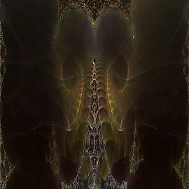 Copycat Of The Three Cloud by Rick Eskridge - Illustration Sci Fi & Fantasy ( fantasy, jwildfire, mb3d, fractal, twisted brush )