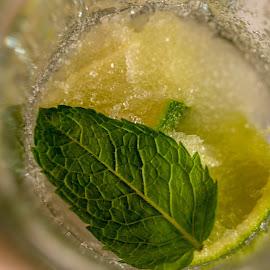 mmm by Mitja Črne - Food & Drink Alcohol & Drinks ( macro, alcohol, drink, glass, lemon )