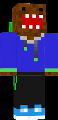 a creeper and a domo skin