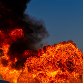 Gasoline Explosion 3 by Colin Toone - Abstract Fire & Fireworks ( cloud, firefighter, smoke, fire, plume )