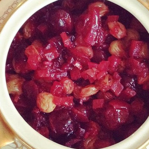 Cranberry, Apple, and Fresh Ginger Chutney