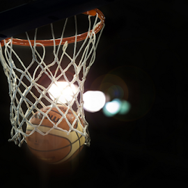 High Contrast Score by Roberto Machado Noa - Sports & Fitness Basketball ( basketball, detail, ball, score, basket, sport, scene, venue, close up, professional, scoring )