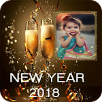 Happy New Year 2018 Photo Frame Icon