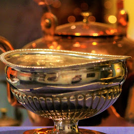 Valley Stars by Leah Zisserson - Artistic Objects Antiques ( bowl, tea kettle, copper, silver, shenandoah valley, museum )