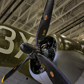 C-47 by Ray Ebersole - Transportation Airplanes ( c-47, tulsa, votech, aircraft, commemorative air force )
