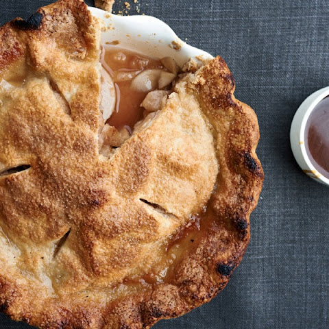 Apple Pie with Spiced Apple-Caramel Sauce