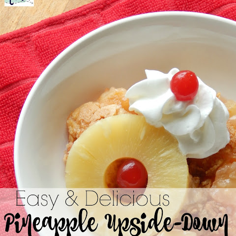 Easy Delicious Pineapple Upside-Down Cobbler
