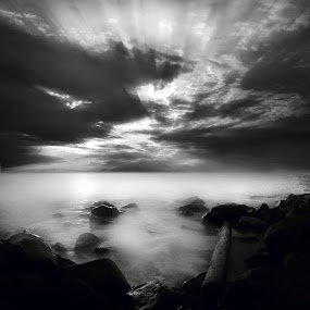 uncoloured by Mohamad Sa'at Haji Mokim - Digital Art Places ( clouds, black and white )