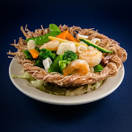 Seafood bird nest by Cary Chu - Food & Drink Plated Food