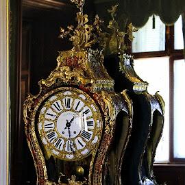 Baroque Wall Clock - Festetics Palace - Keszthely, Hungary  by Jerko Čačić - Artistic Objects Antiques