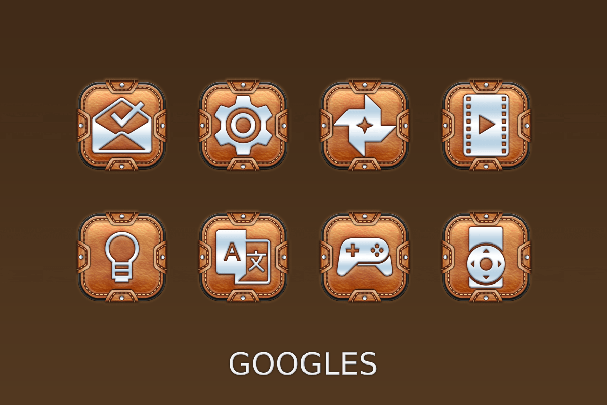 Leather Pouch-Icon Pack Screenshot 5