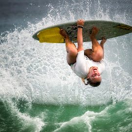2015 OBX Skim Jam  by Lawayne Kimbro - Sports & Fitness Surfing ( skimboarding, ocean, skim, skimming, girl, obx, surfing, skim jam, wave, trick, surf, flip, competition )