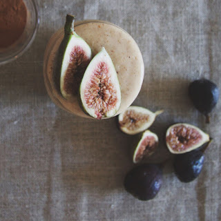 Paleo Banana Smoothie With Coconut, Honey And Figs