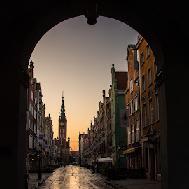 Gdansk, Old Town by Anngunn Dårflot - City,  Street & Park  Historic Districts