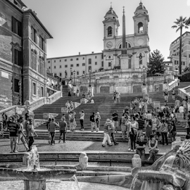 Spanish Steps by Vibeke Friis - Buildings & Architecture Public & Historical ( fountain, spanish steps,  )
