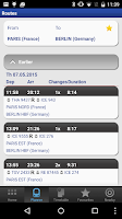 Screenshot of Rail Planner  Eurail/InterRail