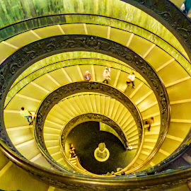Vatican Spiral Staircase by Norma Brandsberg - Buildings & Architecture Architectural Detail ( stair, detail, building, showcase, vatican, spiral, build, architect, rome, staircase, architectural, artist, italy, construction )
