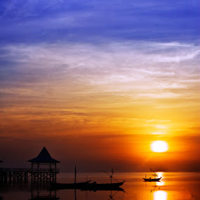 Beautiful Sunrise in Kenjeran, Indonesia by Hernan Halim - Landscapes Travel